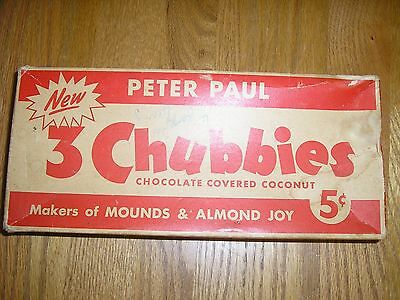 vintage petere paul 3 chubbies RETAIL DISPLAY BOX CANDY BAR