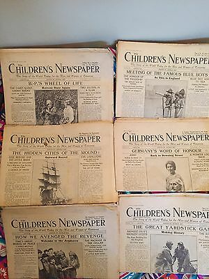 6x The Children's Newspaper Dated 1929 Scouts, India, Dawes Plan