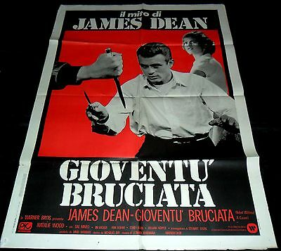 1955 Rebel Without a Cause ORIGINAL Italian 55' POSTER Nicholas Ray James Dean