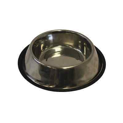 Non Slip Stainless Steel  Puppy Dog Bowl Dish Water Food Feeding New UK