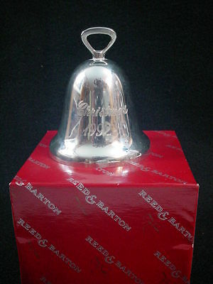 1992 Reed Barton Silver Plate  Xmas bell Ornament Engraved Christmas Tradition