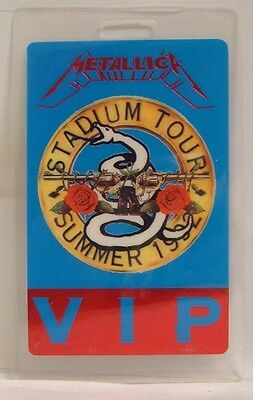 Metallica 1992 Guns N Roses - Original Laminate Concert Tour Pass