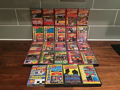 Bundle of 26 ( No.17-43 Missing No 25)AMSTRAD ACTION PACK CPC cassette tapes