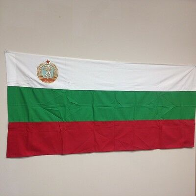 Post WWII People's Republic of Bulgaria Flag 5' x 14.25' 1946-1989