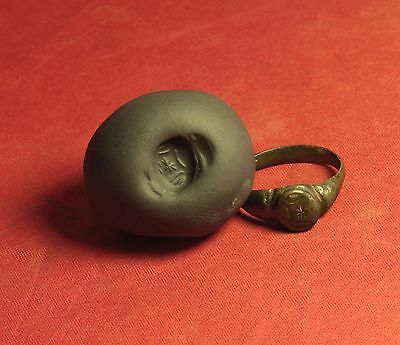 Ancient Roman Bronze Legionary Seal Ring