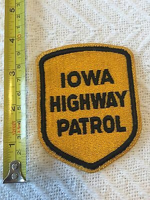 IA Iowa Highway Patrol Official Police Patch Large Unused!!!