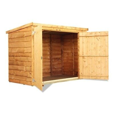 Wooden Bike Store Shed Storage Garden Pent Waney 3x6 Feet INCLUDES FLOOR New