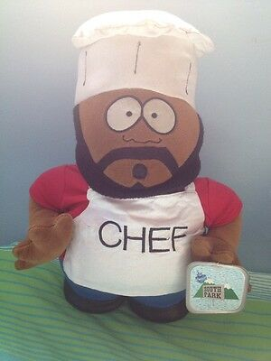 Chef Isaac Hayes Official South Park Plush Cuddly TAGGED 1998