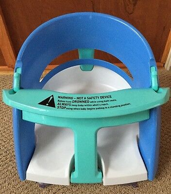 Dream Baby Safety Infant Bath Seat Blue White Tub Chair Ring With Suction Cups