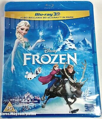 FROZEN Brand New 3D BLU-RAY (and 2D) Region-Free DISNEY MOVIE -- Ships from USA