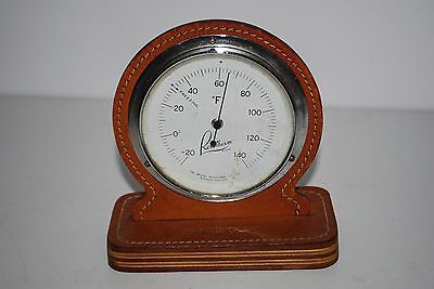 Vintage Rototherm Thermometer In Brown Pig Skin Casing Made In England