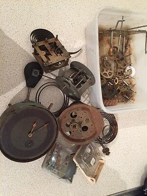 Clock Movements And Parts Spares Or Restoration