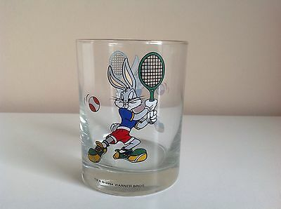 Vintage 1994 Warner Brothers Bugs Bunny Tennis Drinking Glass