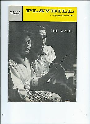 "Playbill-""The Wall""George C. Scott-Yvonne Mitchell-1960-Billy Rose Theatre"