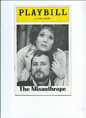 Playbill-The Misanthrope-1975-St.James Theatre-Diana Rigg