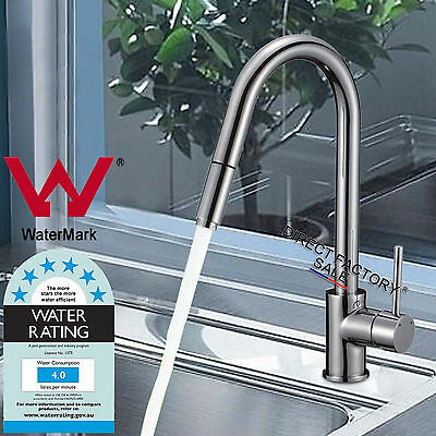 WELS Watermark Bath Kitchen Sink Basin Swivel Pull Out Spout Mixer Tap Faucet