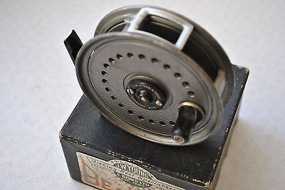 "A Good Vintage Boxed J W Young 3 1/2"" Beaudex Trout Fly Reel"