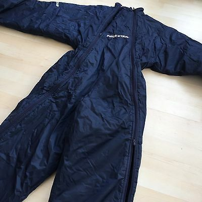 Prostar Football Rugby Substitute Suit Sub Suit Warm Up Size 32/34 Quilted Blue