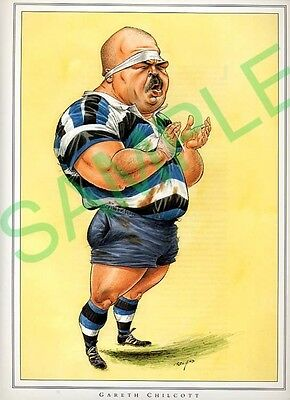 Framed picture Gareth Chilcott by John Ireland Rugby