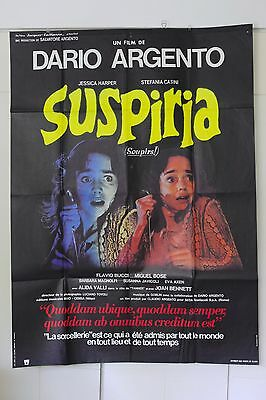 Rare Original Suspiria Poster French Affiche Dario Argento Cinema Cult Horror