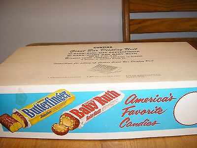vintage curtiss butterfinger baby ruth RETAIL DISPLAY BOX CANDY BAR