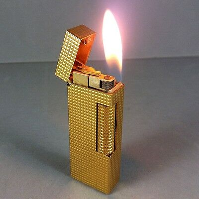 Dunhill Gold Diamonds Rollagas Lighter US.RE 24163 SWISS Sold AS IS No Reserve