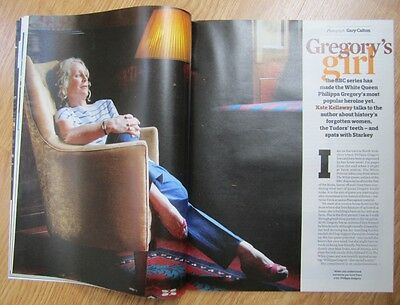 Philippa Gregory – Creator of The White Queen – Observer magazine - 28 July 2013