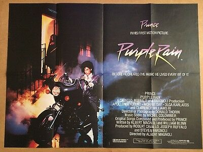 Purple Rain - Original British Quad Cinema Movie Poster - 1984 - Prince