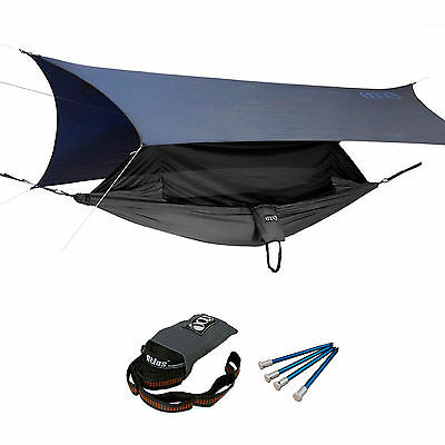 ENO OneLink Jungle Nest Camping Hammock ProFly Atlas Straps Sleep System Grey