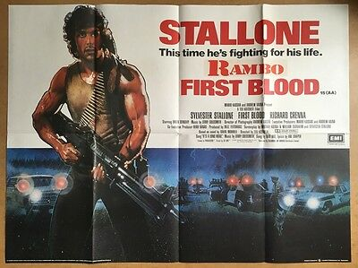First Blood -Original British Quad Cinema Movie Poster-Rambo, Sylvester Stallone