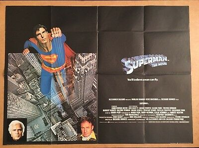 Superman The Movie - Original British Quad Cinema Movie Poster - 1978