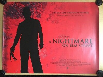 A Nightmare On Elm Street, Rare Original Uk Quad Cinema Poster, Re Release