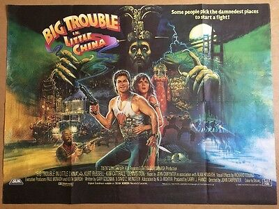 Big Trouble In Little China - Original British Quad Cinema Movie Poster - 1986
