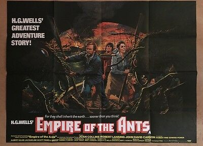 Empire Of The Ants -  Rare UK QUAD Cinema POSTER - H.G.Wells