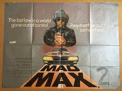 Mad Max 2 -Original British Quad Cinema Movie Poster - Mel Gibson - Road Warrior