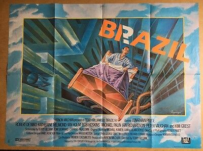 Brazil -  Rare Cult - UK QUAD Cinema POSTER - 1985 Terry Gilliam