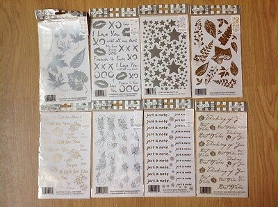 Rub On Transfers For Crafts.8 Assorted Sheets