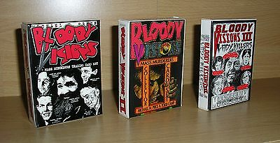 Serial Killer / Mass Murderer Trading Cards - Bloody Visions Sets 1, 2 & 3 - New