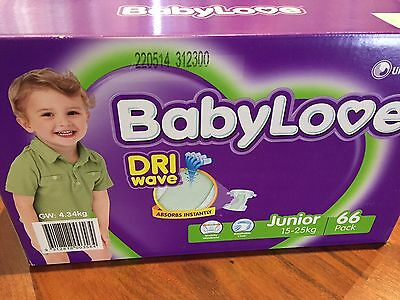 Babylove Nappies Junior 15-25kg Pack 66