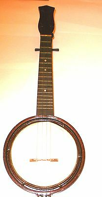 UKULELE BANJO CIRCA 1945 GREAT QUALITY FOR PERIOD AND HAS GREAT SOUND With case
