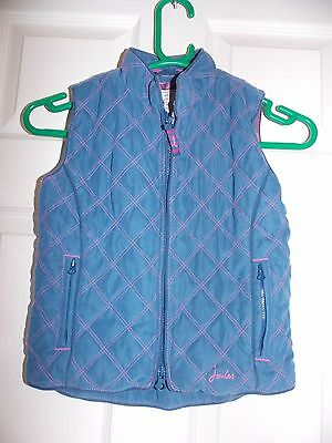 Superb Girls Designer Joules Quilted Gilet Jacket Uk Size 6 Yrs Rrp £45