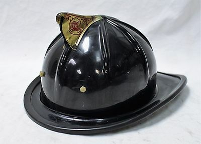 Cairns & Brother Black And Brass Vintage Fire Helmet