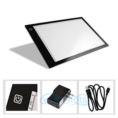 Adjustable A4 LED Tracing Board Craft Design Photo Drawing Light Stencil DC 12V