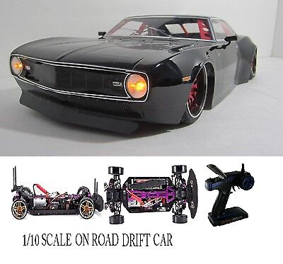 1/10 Scale Chevrolet Camaro SS RTR Custom RC Drift Cars 4WD 2.4Ghz & Charger blk