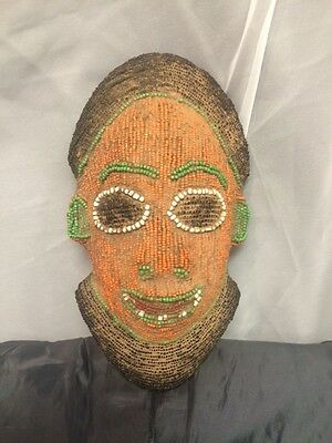 Vintage, Cameroon Tribal Beaded Face