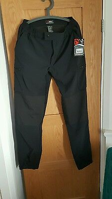 Mens Keela Heavy weight Outdoor pursuit hiking trousers black bnwt 34 long