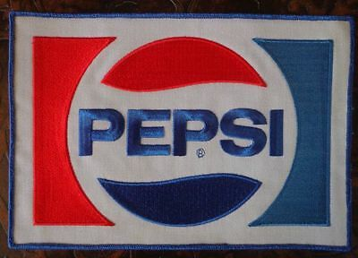 "PEPSI Sew On Large Uniform Jacket Embroidered Patch 9"" x 6"""