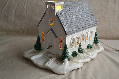 Large vintage Christmas church, ceramic, lighted and plays music **works***