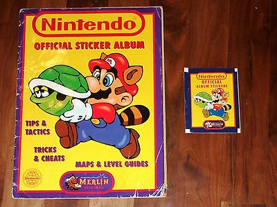 Nintendo Official Sticker album by Merlin 1992 Complete with extras
