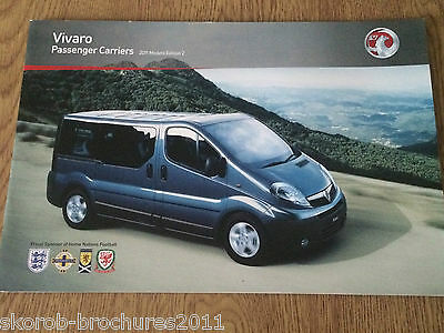 VAUXHALL - The Vivaro Passenger Carriers Sales Brochure 2011 Edition 2